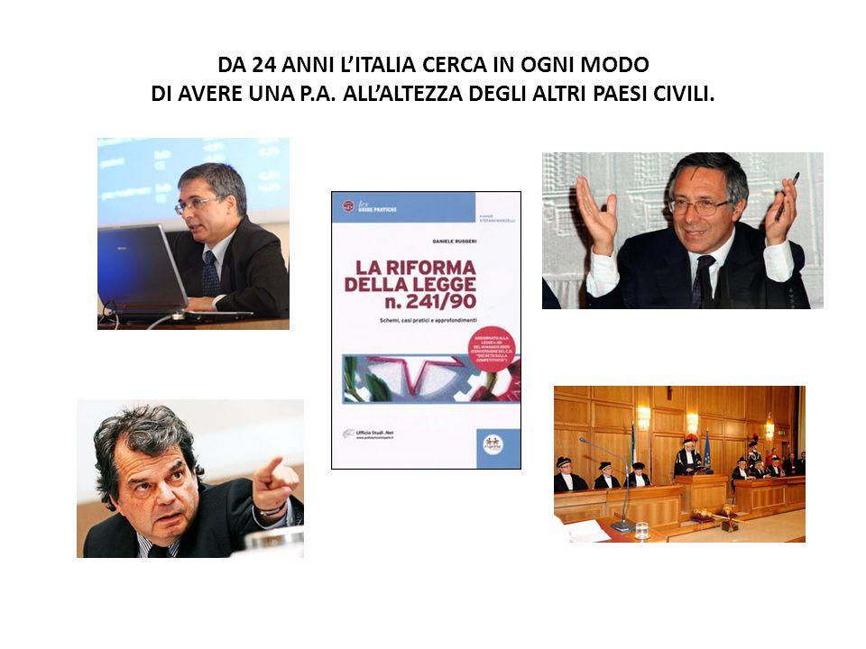 DA 24 ANNI L'ITALIA CERCA IN OGNI MODO DI AVERE UNA P. A