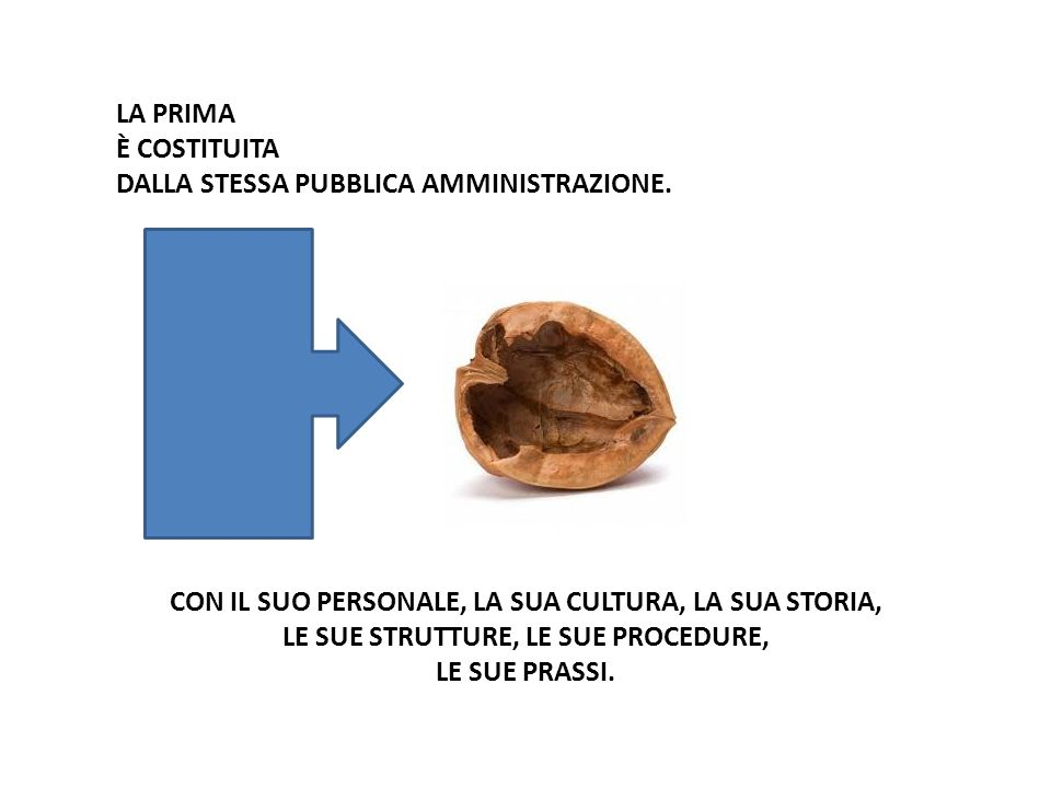 LA PRIMA È COSTITUITA DALLA STESSA PUBBLICA AMMINISTRAZIONE