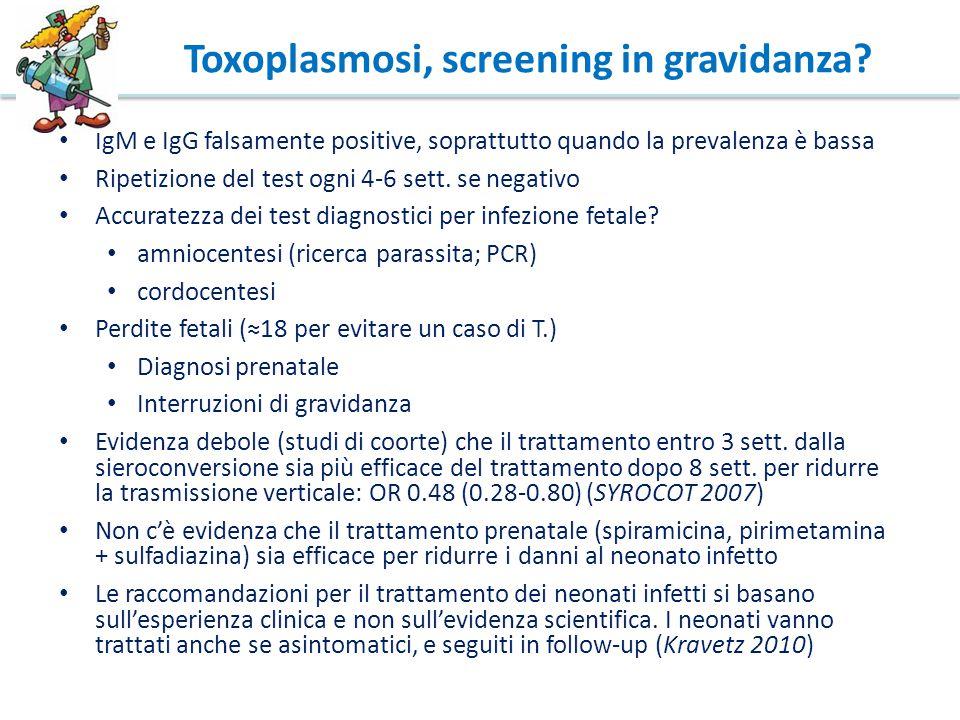 Toxoplasmosi, screening in gravidanza