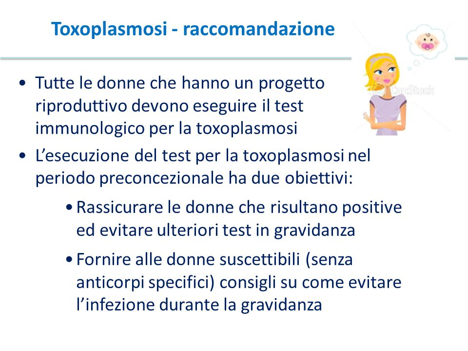 Toxoplasmosi - raccomandazione