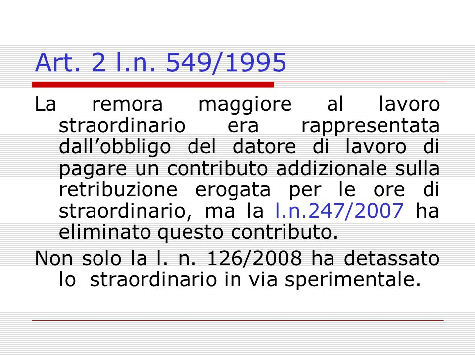 Art. 2 l.n. 549/1995