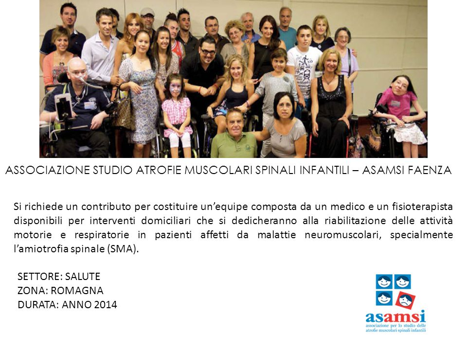 ASSOCIAZIONE STUDIO ATROFIE MUSCOLARI SPINALI INFANTILI – ASAMSI FAENZA