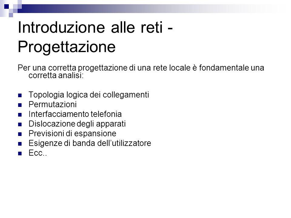 Introduzione alle reti - Progettazione
