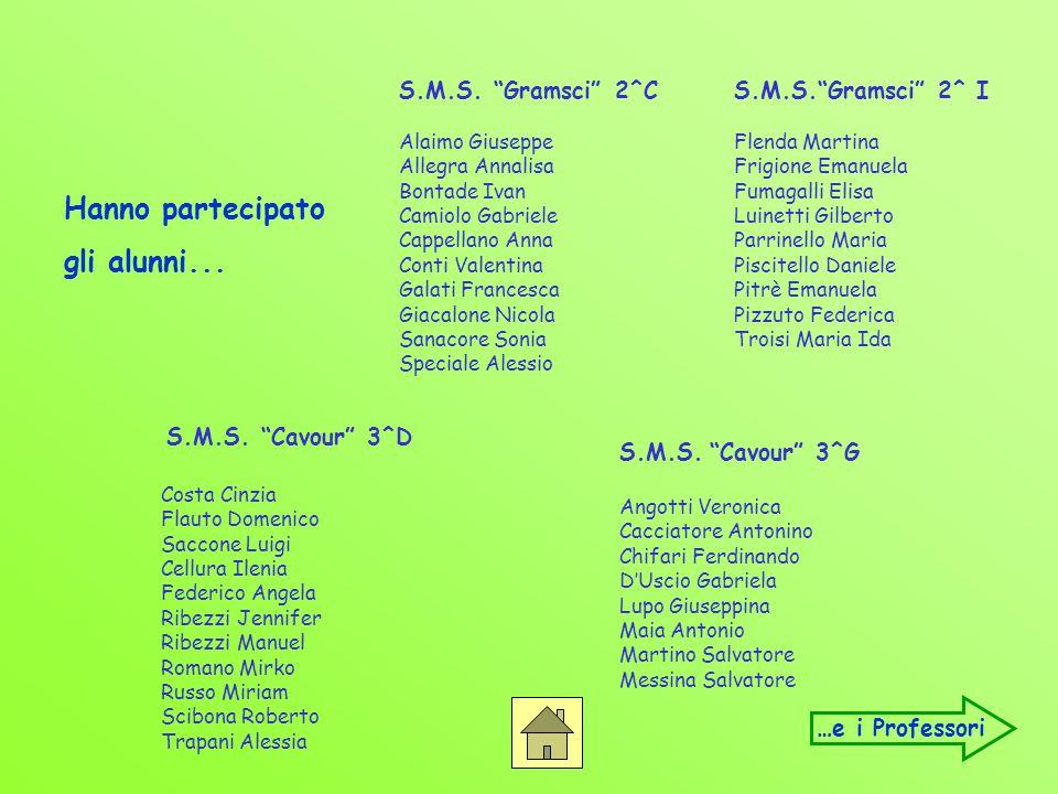 Hanno partecipato gli alunni... S.M.S. Gramsci 2^C