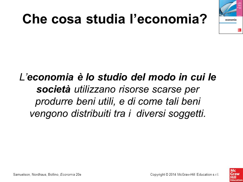 Che cosa studia l'economia