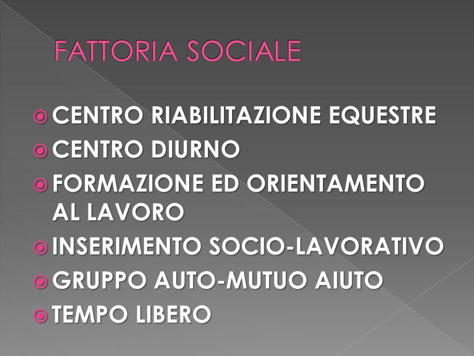 FATTORIA SOCIALE CENTRO RIABILITAZIONE EQUESTRE CENTRO DIURNO