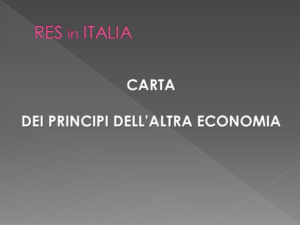CARTA DEI PRINCIPI DELL'ALTRA ECONOMIA