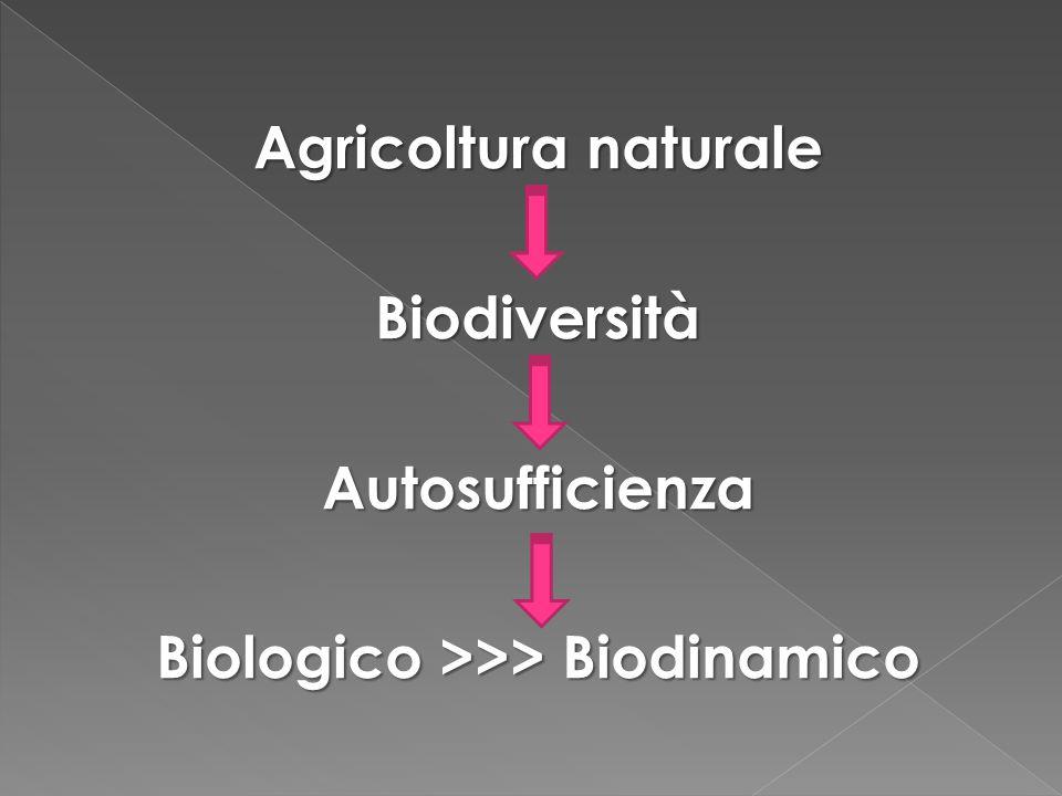 Biologico >>> Biodinamico