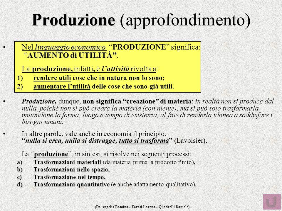Produzione (approfondimento)