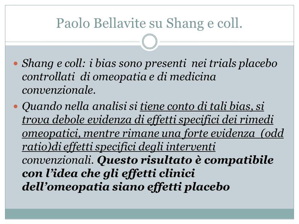 Paolo Bellavite su Shang e coll.
