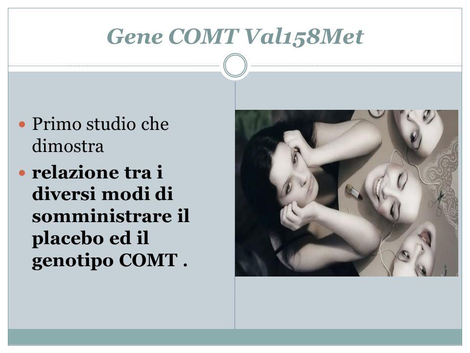 Gene COMT Val158Met Primo studio che dimostra