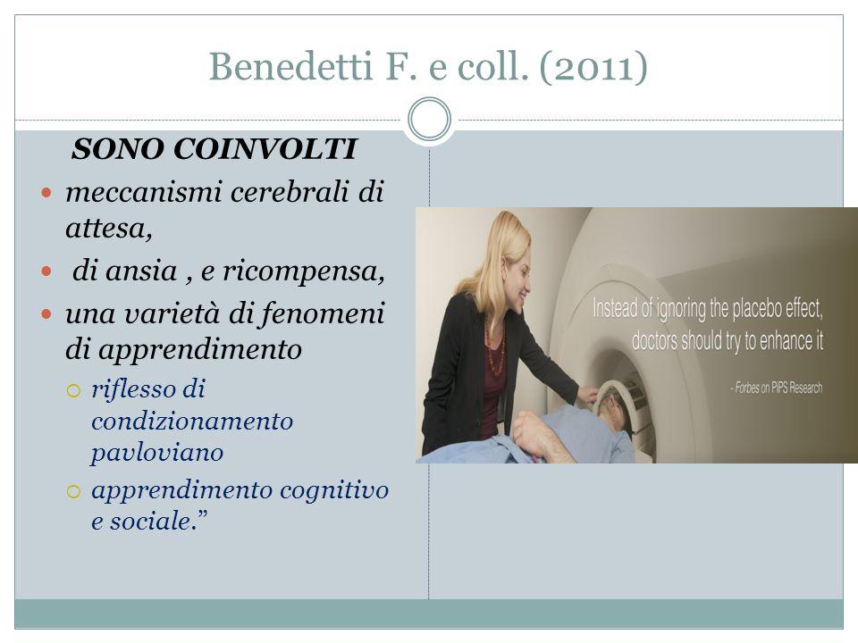 Benedetti F. e coll. (2011) SONO COINVOLTI