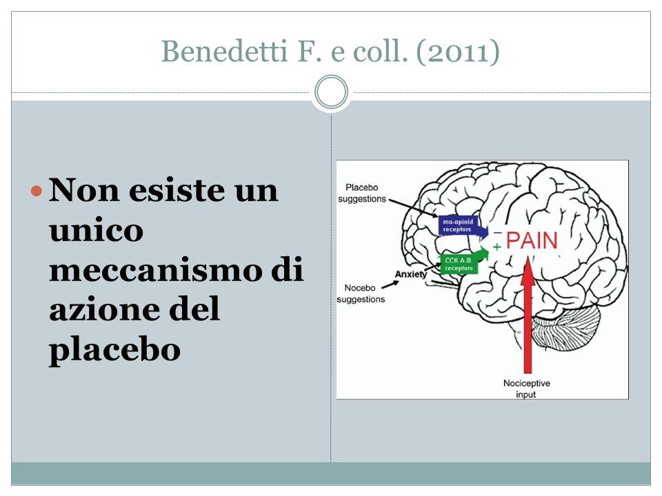Non esiste un unico meccanismo di azione del placebo