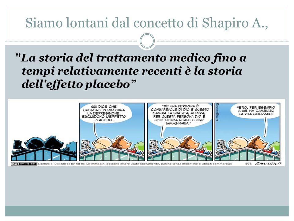 Siamo lontani dal concetto di Shapiro A.,