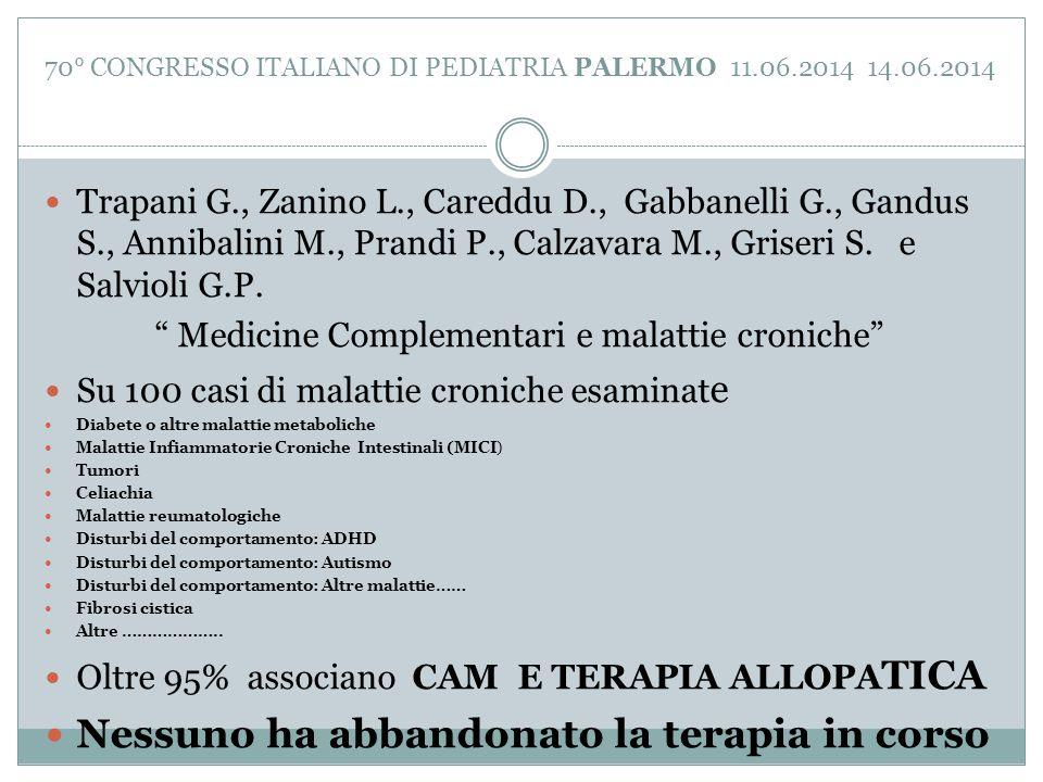 70° CONGRESSO ITALIANO DI PEDIATRIA PALERMO 11.06.2014 14.06.2014