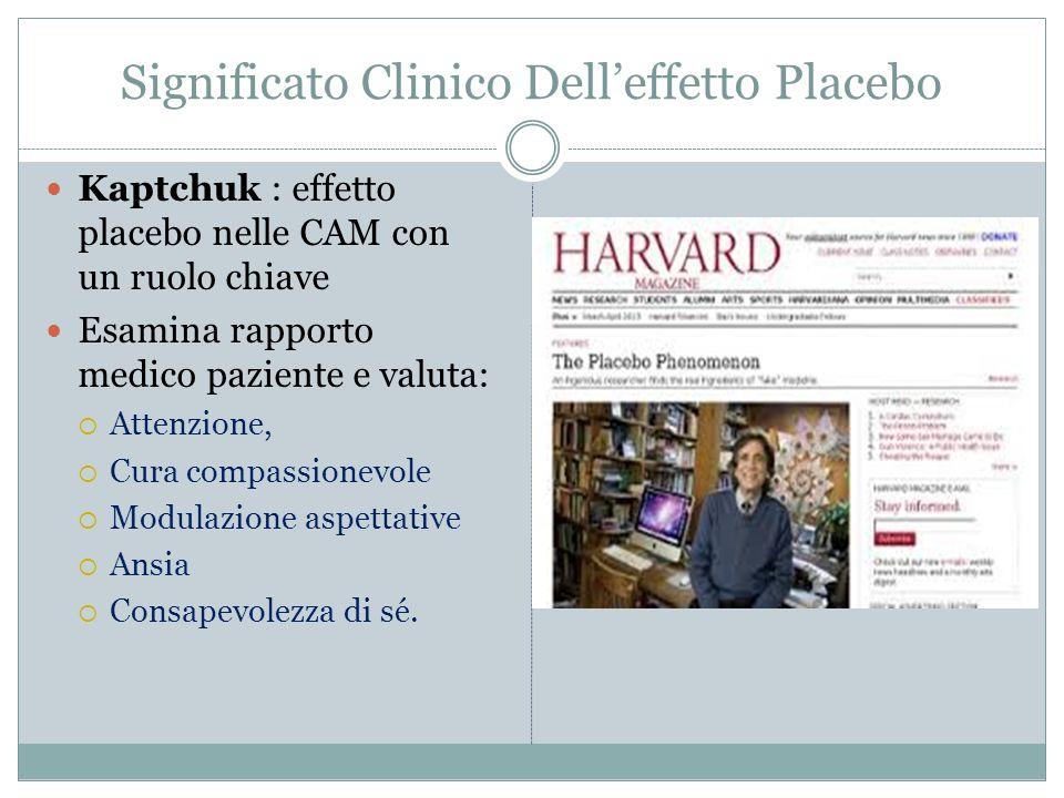 Significato Clinico Dell'effetto Placebo