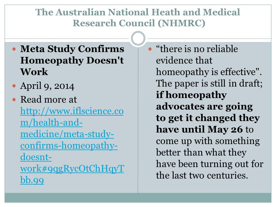 The Australian National Heath and Medical Research Council (NHMRC)