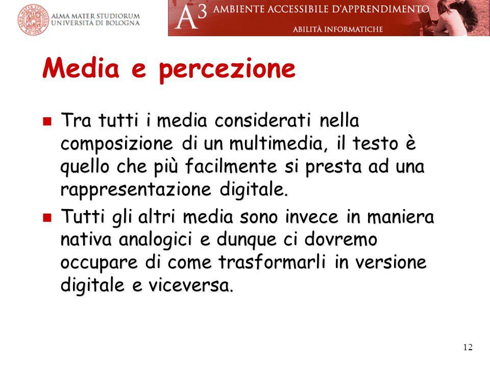 Media e percezione