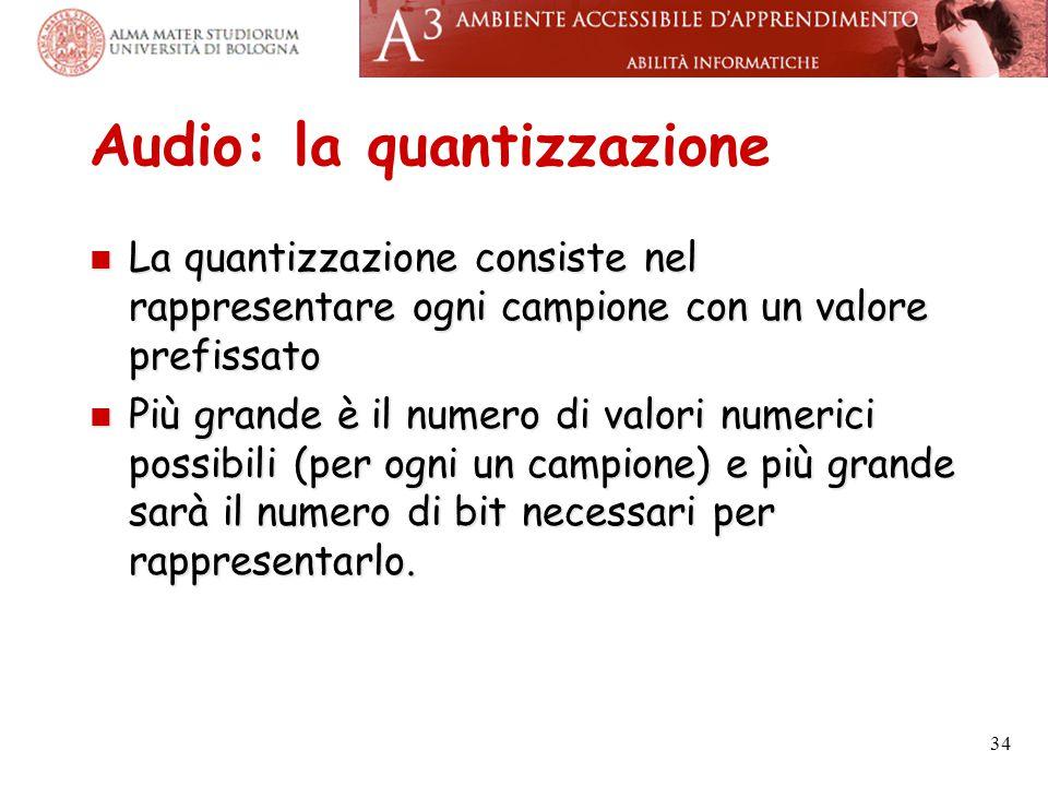 Audio: la quantizzazione
