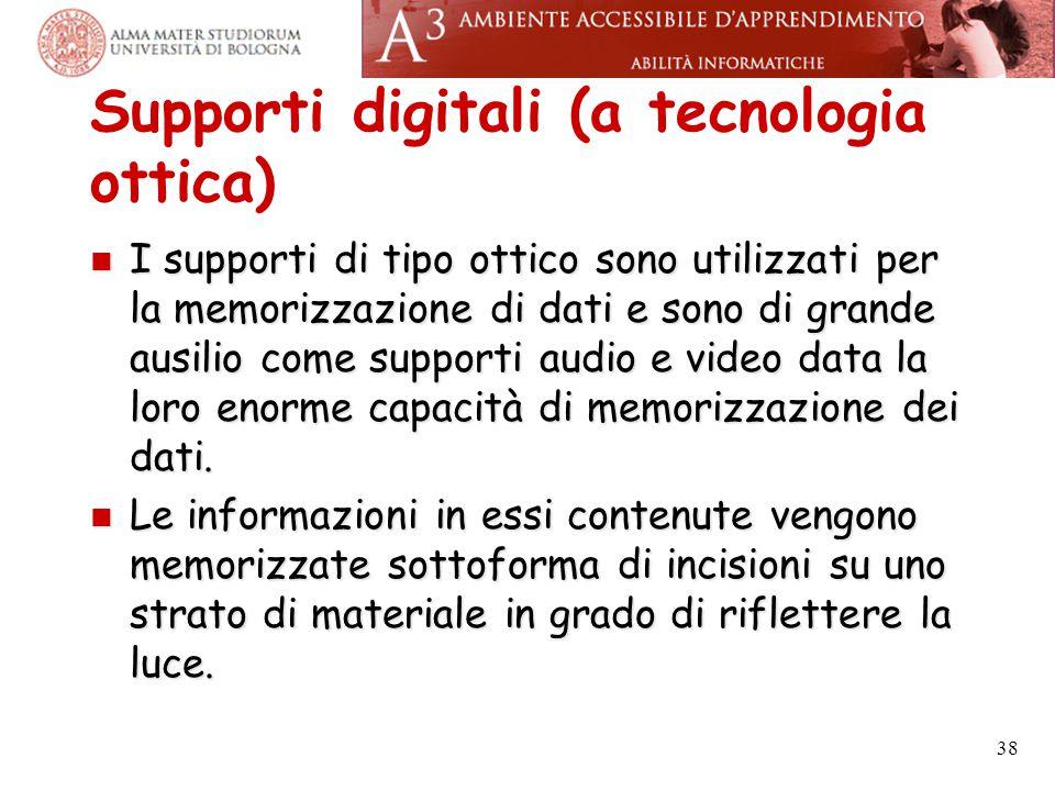Supporti digitali (a tecnologia ottica)