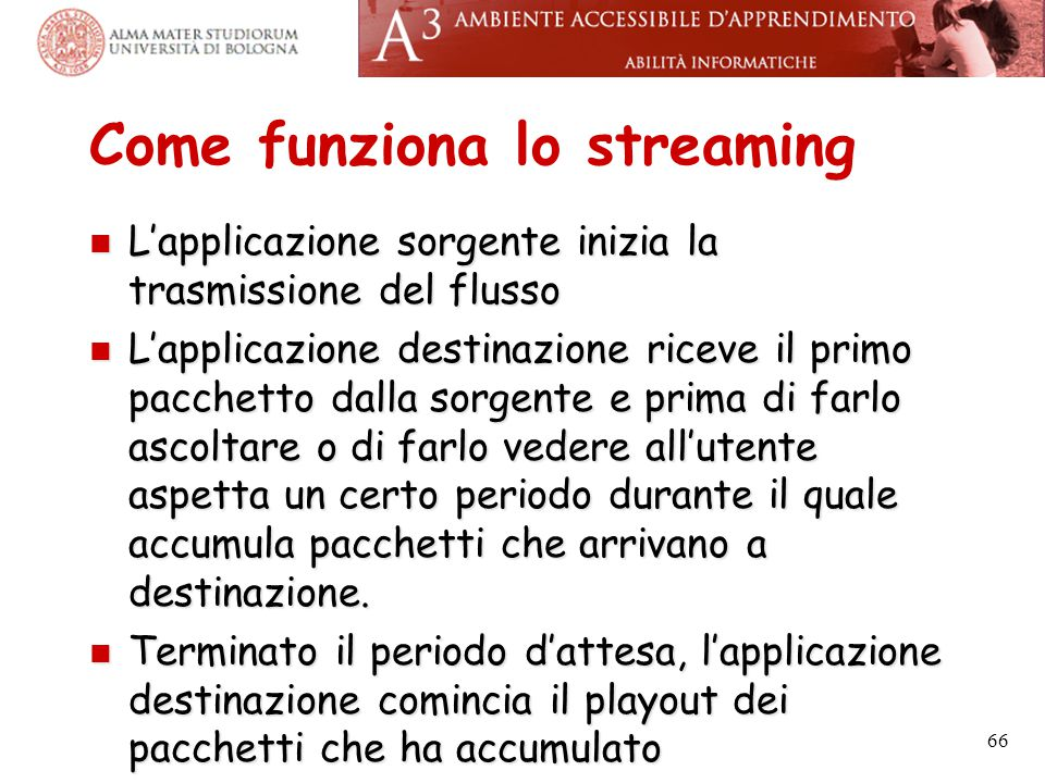 Come funziona lo streaming