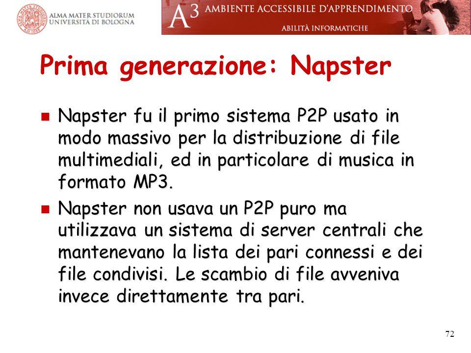 Prima generazione: Napster