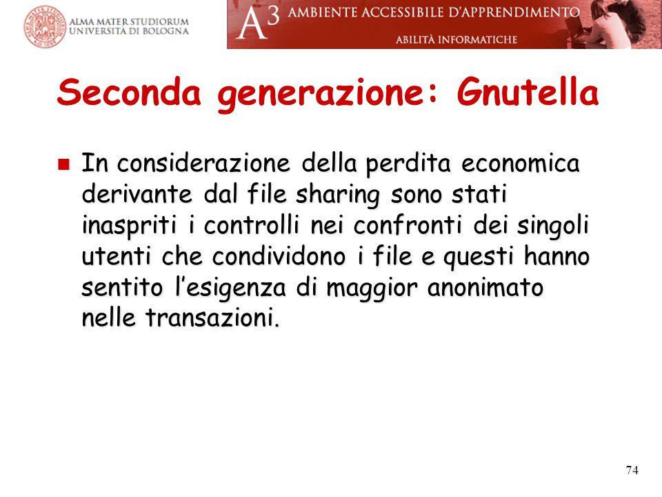 Seconda generazione: Gnutella