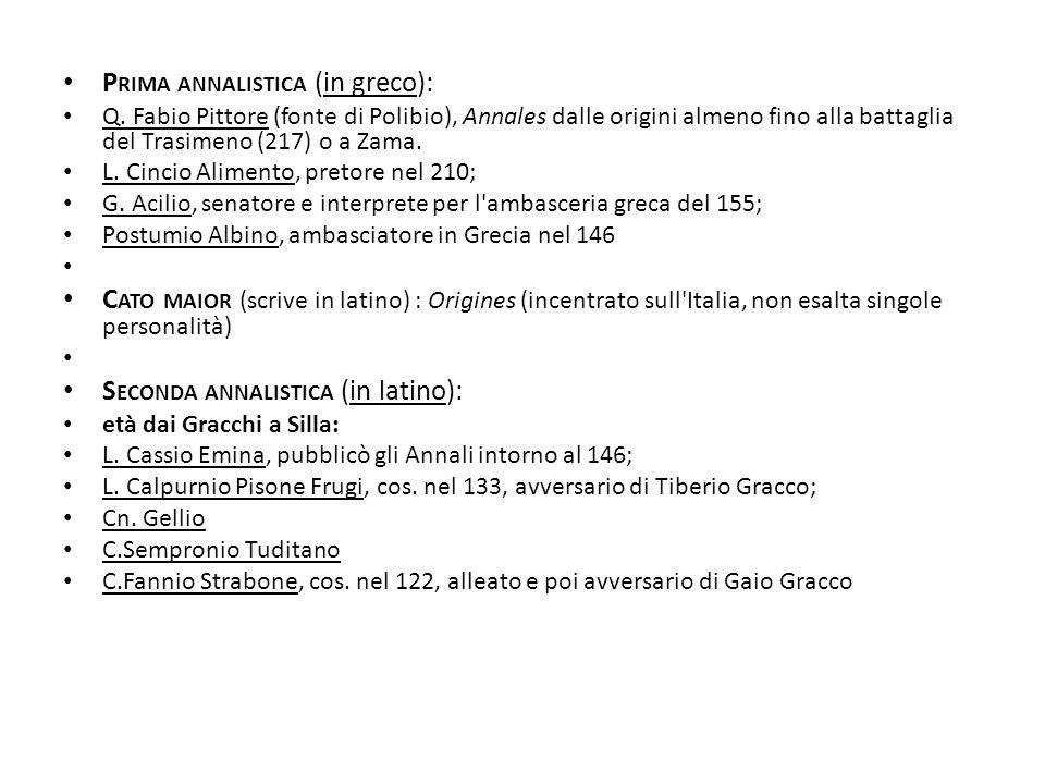 Prima annalistica (in greco):