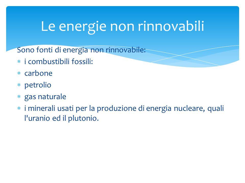 Le energie non rinnovabili