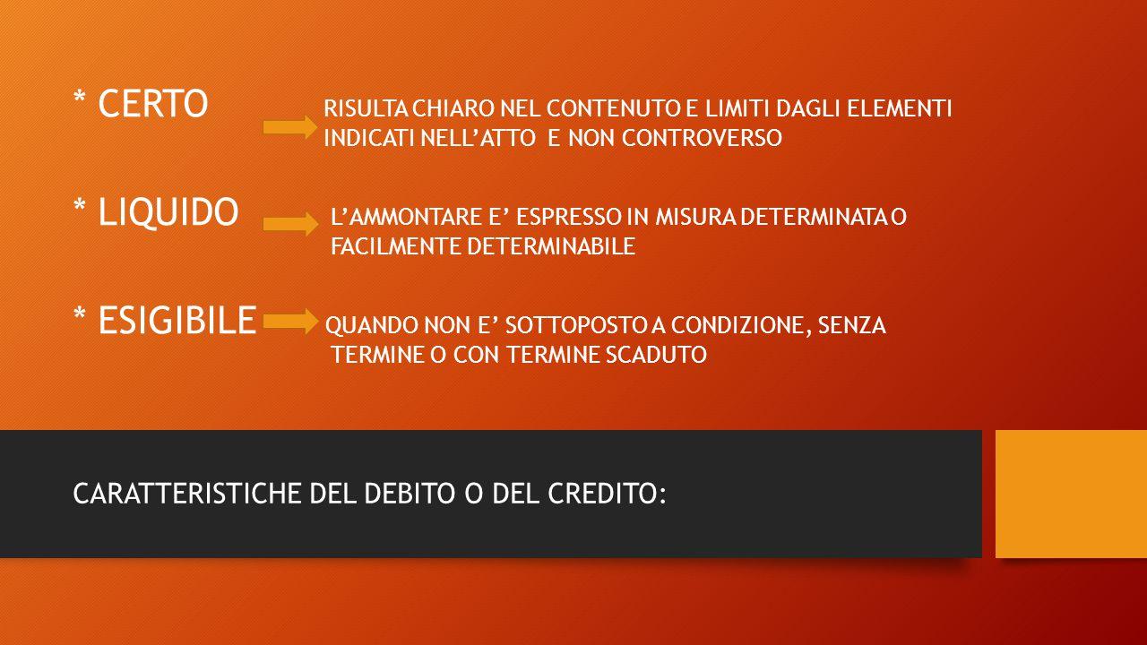 CERTO RISULTA CHIARO NEL CONTENUTO E LIMITI DAGLI ELEMENTI