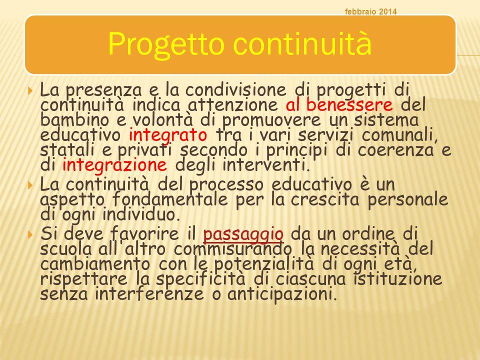 febbraio 2014 Progetto continuità.