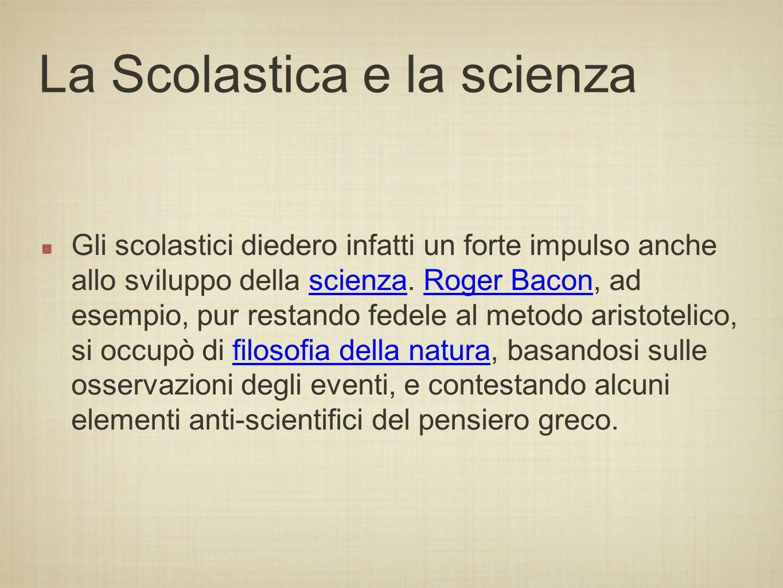 La Scolastica e la scienza