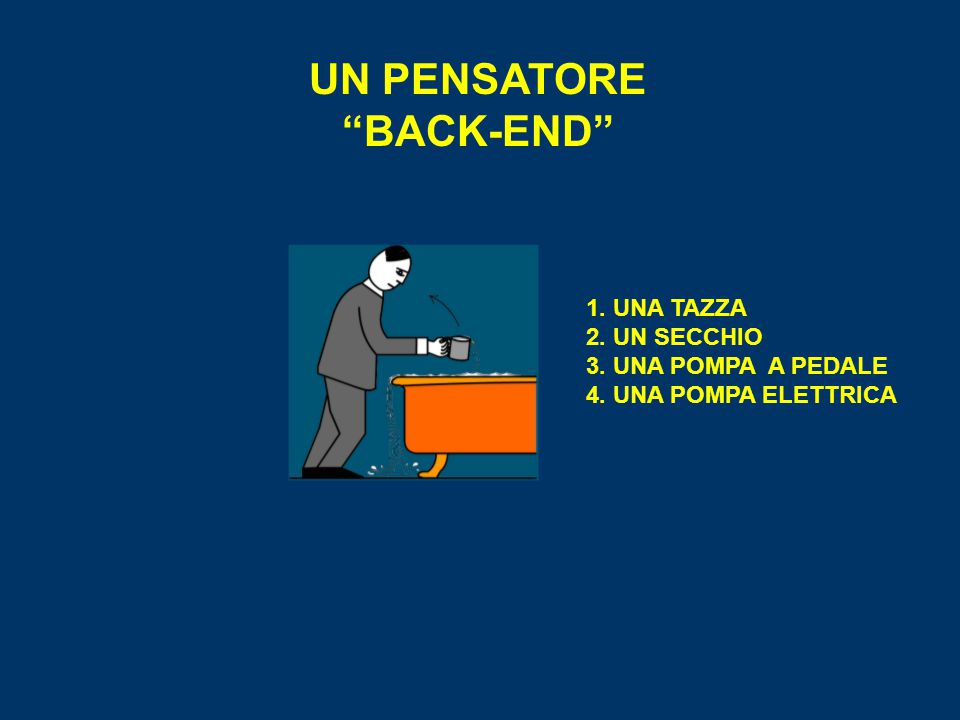 UN PENSATORE BACK-END