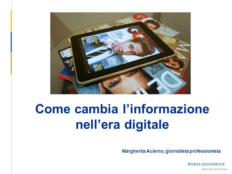 Come cambia l'informazione nell'era digitale