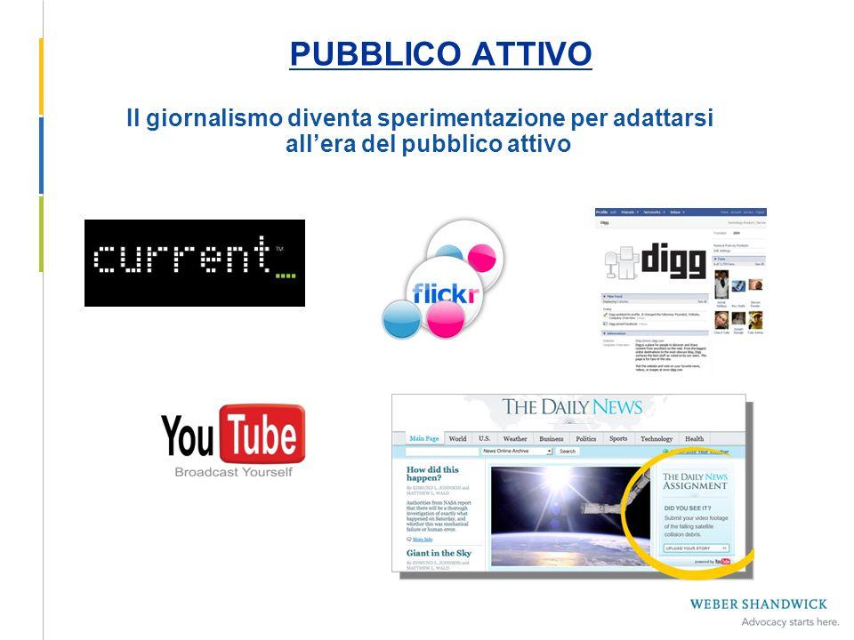 PUBBLICO ATTIVO Il giornalismo diventa sperimentazione per adattarsi all'era del pubblico attivo