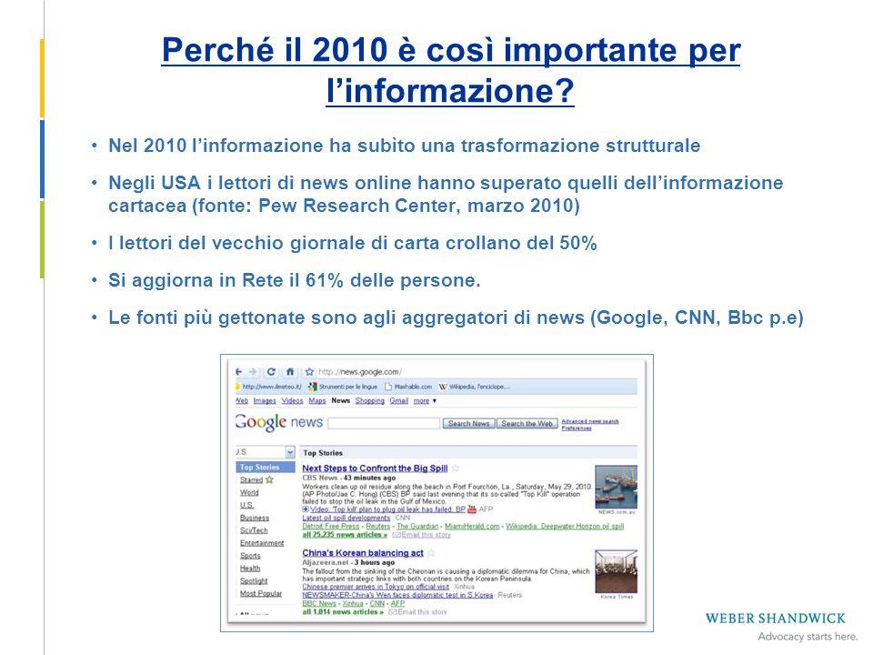 Perché il 2010 è così importante per l'informazione