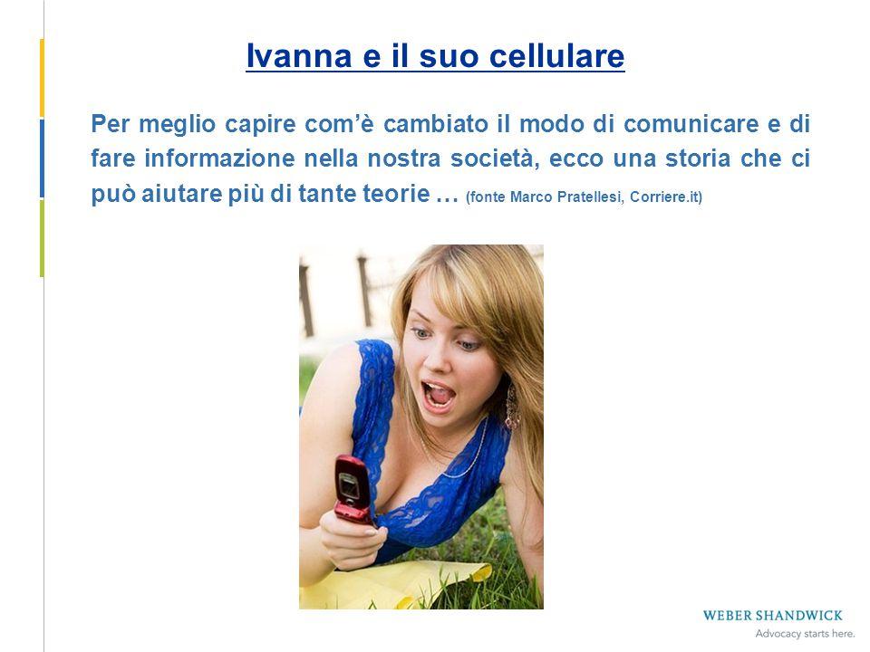 Ivanna e il suo cellulare