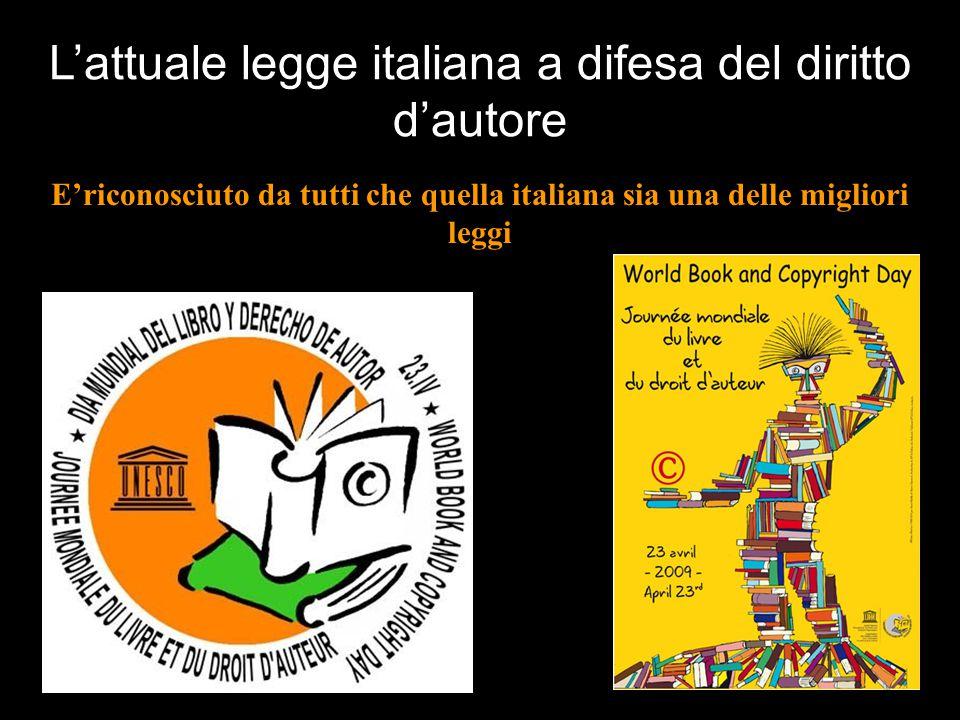 L'attuale legge italiana a difesa del diritto d'autore