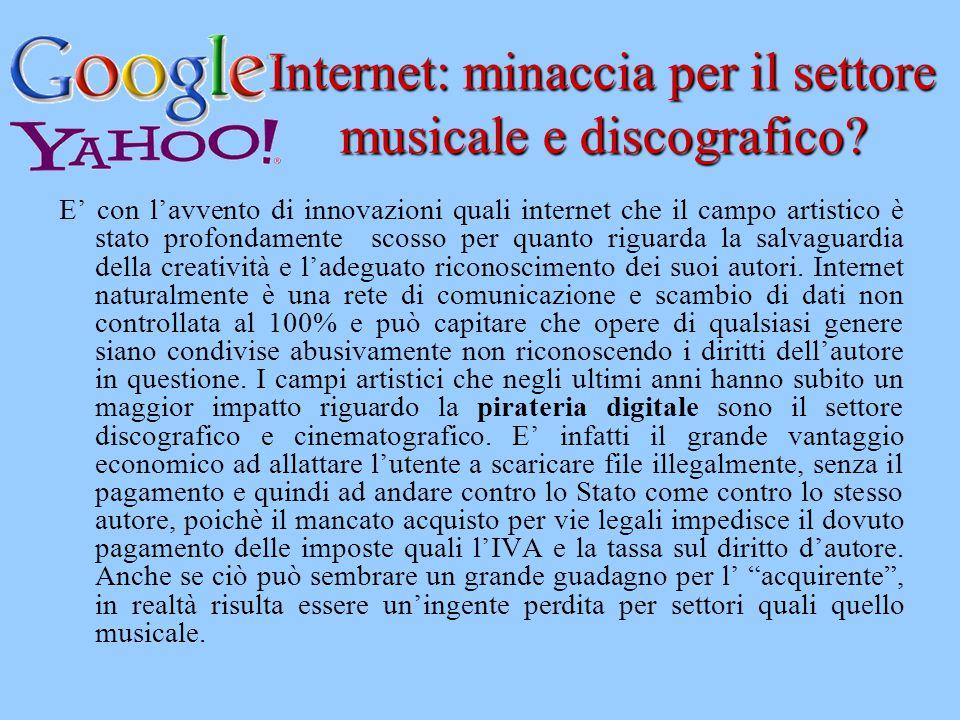 Internet: minaccia per il settore musicale e discografico