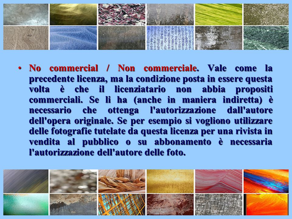 No commercial / Non commerciale