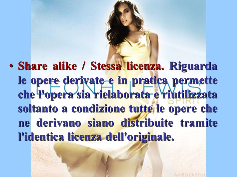 Share alike / Stessa licenza