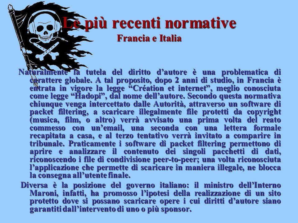 Le più recenti normative Francia e Italia