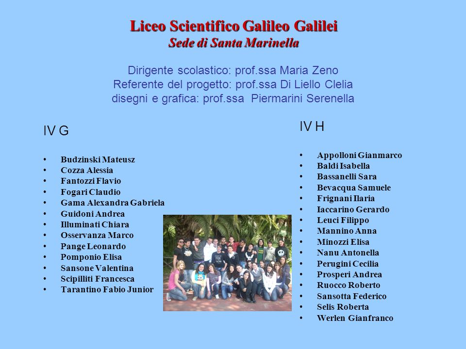 Liceo Scientifico Galileo Galilei Sede di Santa Marinella