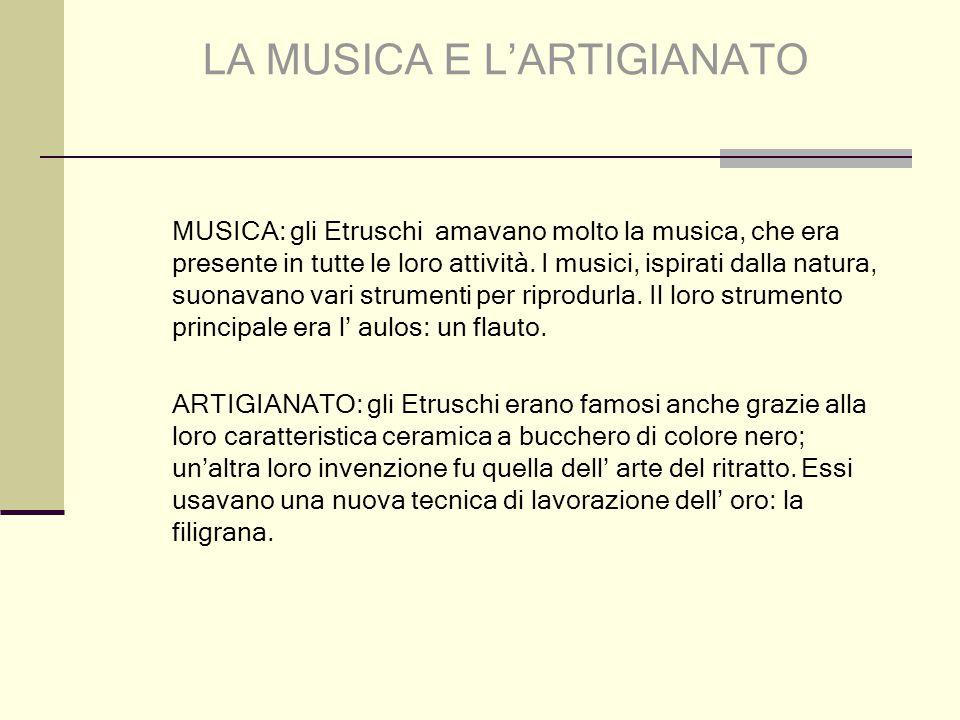 LA MUSICA E L'ARTIGIANATO