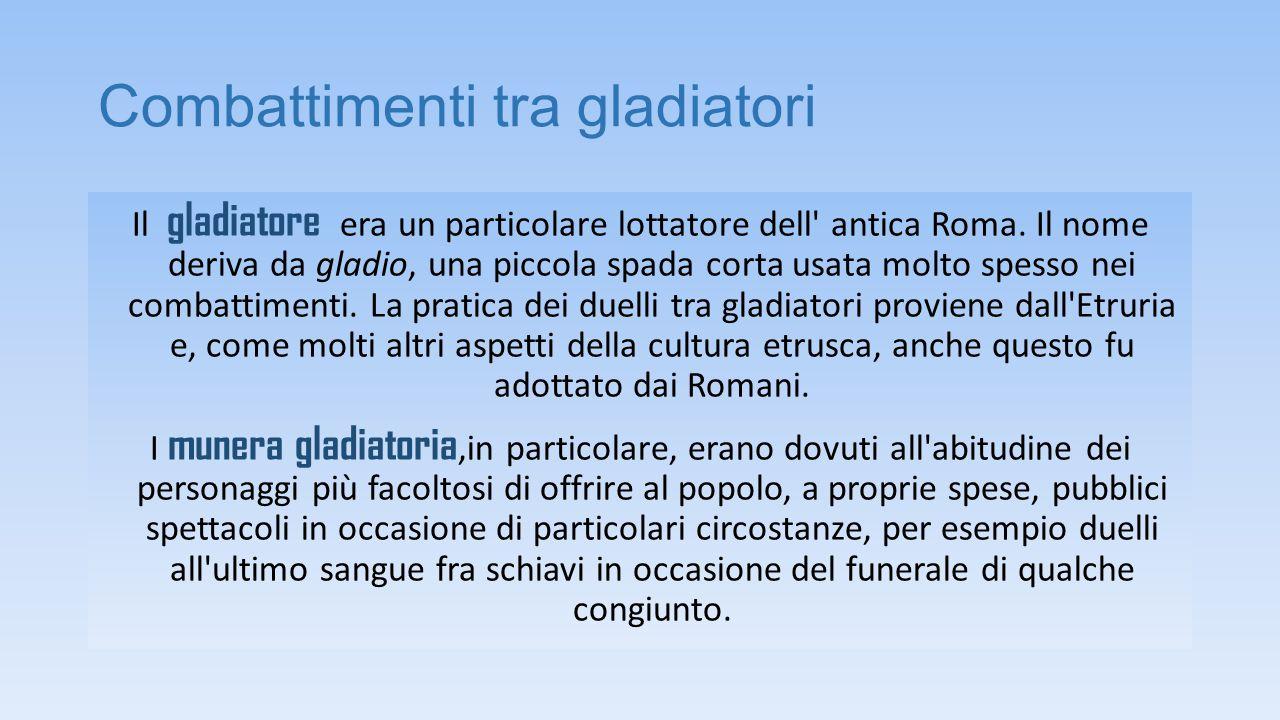 Combattimenti tra gladiatori