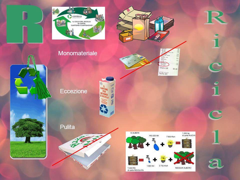 R Monomateriale Ricicla Eccezione Pulita