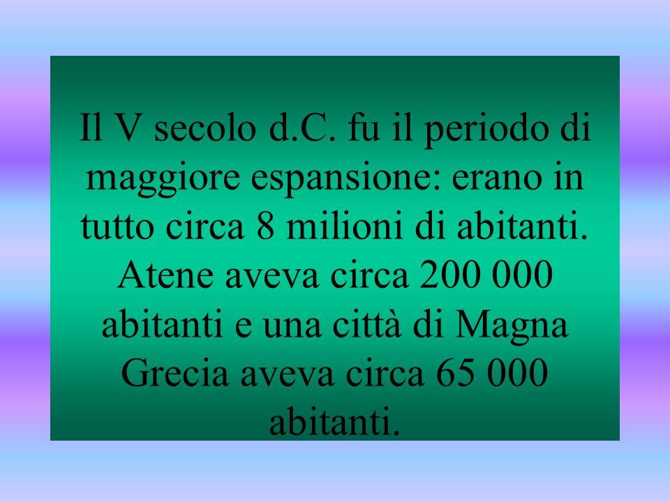 Il V secolo d.C. fu il periodo di maggiore espansione: erano in tutto circa 8 milioni di abitanti.