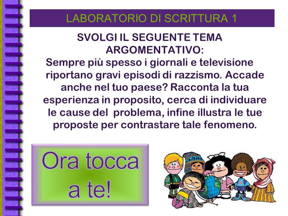 LABORATORIO DI SCRITTURA 1