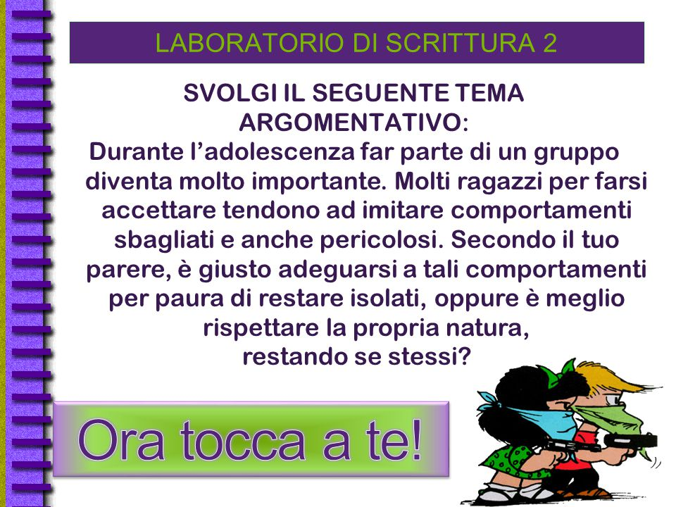 LABORATORIO DI SCRITTURA 2