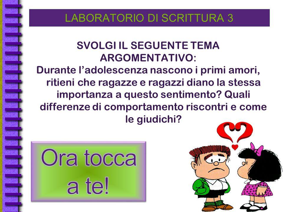 LABORATORIO DI SCRITTURA 3